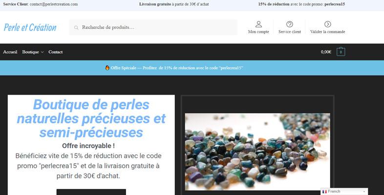 site perle et création